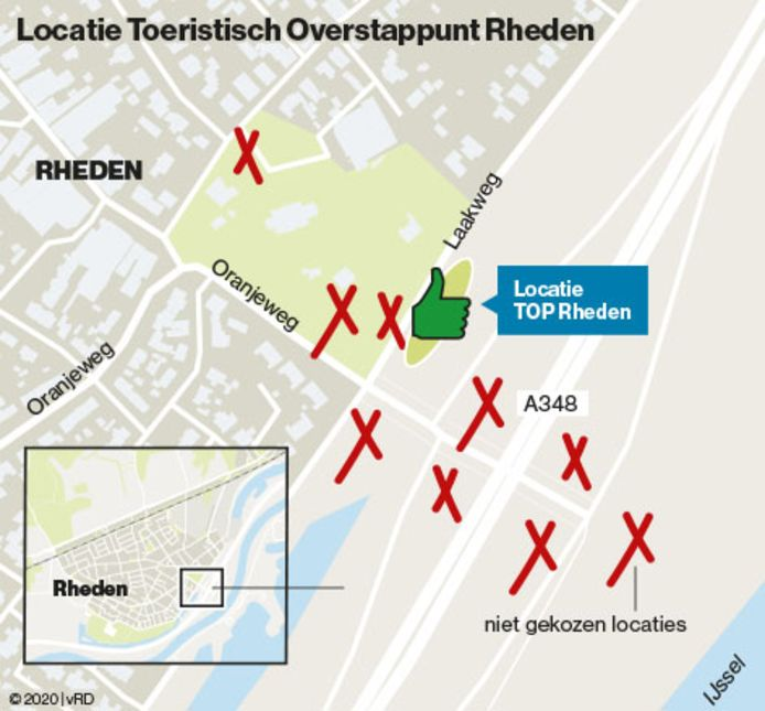 Ook andere locaties dan de Laakweg in Rheden zijn onderzocht, maar als ongeschikt afgevallen.