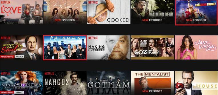 Series als 'Friends' en 'The Big Bang Theory' worden aan het aanbod toegevoegd.