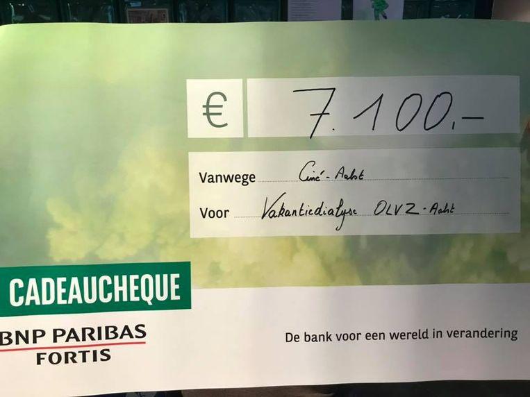 Er werd 7.100 euro ingezameld voor Vakantiedialyse.