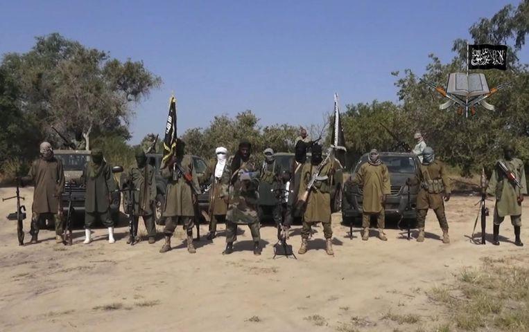 Strijders van Boko Haram op archiefbeeld. Beeld ap