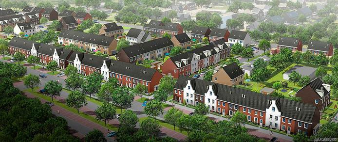 Een impressie van het nieuwbouwplan aan de Spoorzone in Deurne.