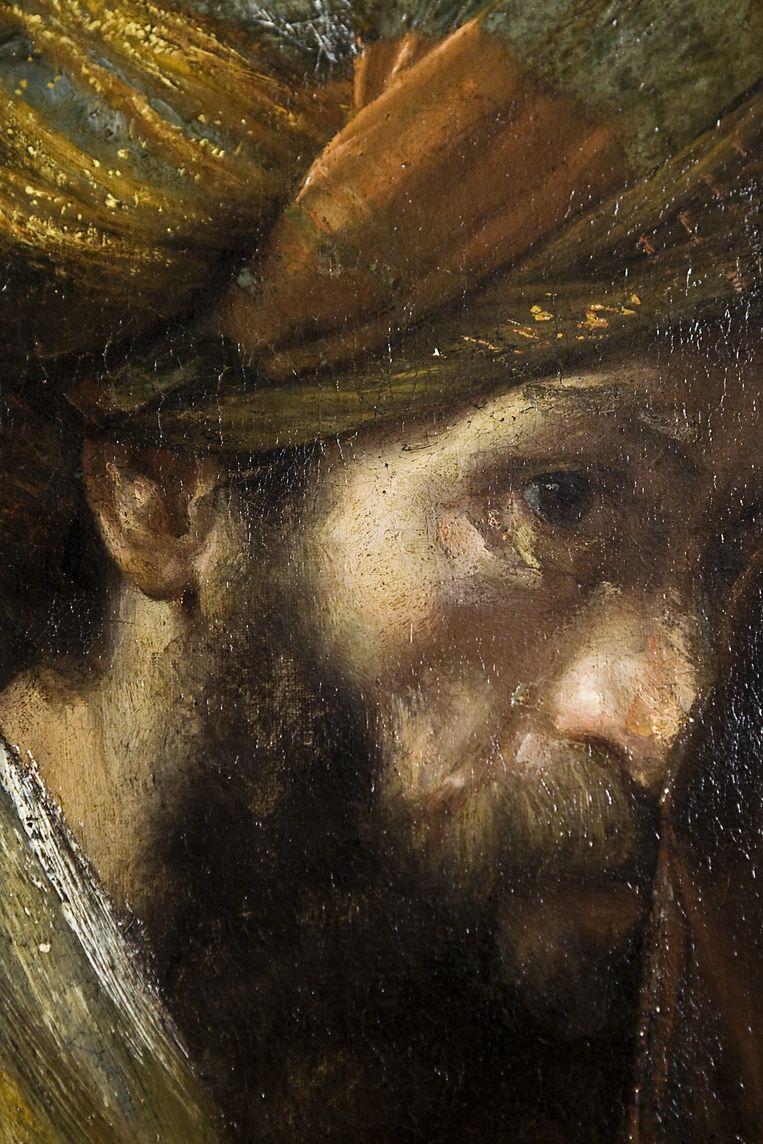 Close-up van het hoofd van Saul. Beeld Io Cooman