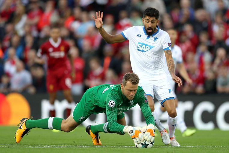 Mignolet was levensbelangrijk voor Liverpool tegen Hoffenheim.