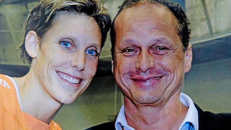 De Nederlandse volleybalster Ingrid Visser en haar partner Lodewijk Severein. Beeld anp