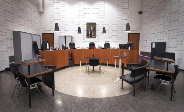 Interieur van de rechtszaal in het Paleis van Justitie in Den Haag.  Beeld ANP