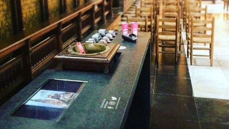 Het offerblok in de OLV kapel.