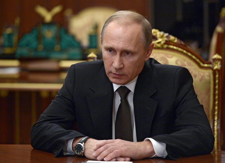De Russische president Vladimir Poetin.