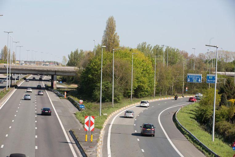 De verkeerswisselaar E17-E40 in Gent.