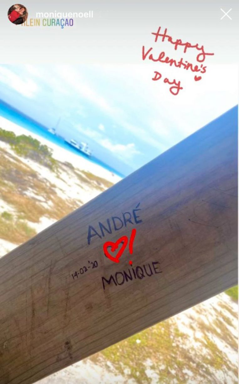 Deze foto heeft Monique op Valentijsdag op Instagram gedeeld.