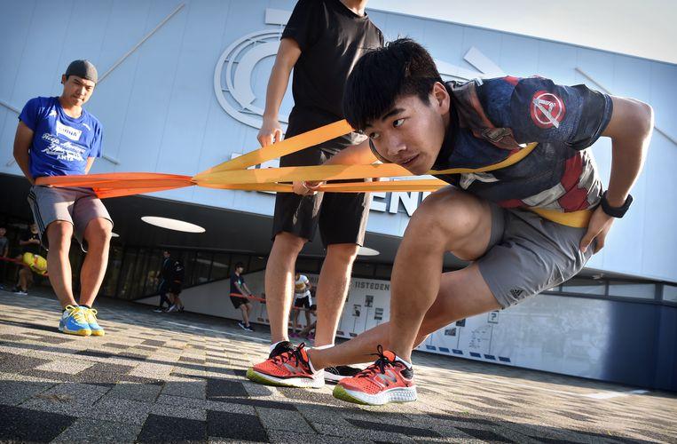 Chinese schaatsers komen naar Nederland voor trainingen van Nederlandse schaatscoaches met het oog op de Olympische Winterspelen.  Beeld Marcel van den Bergh