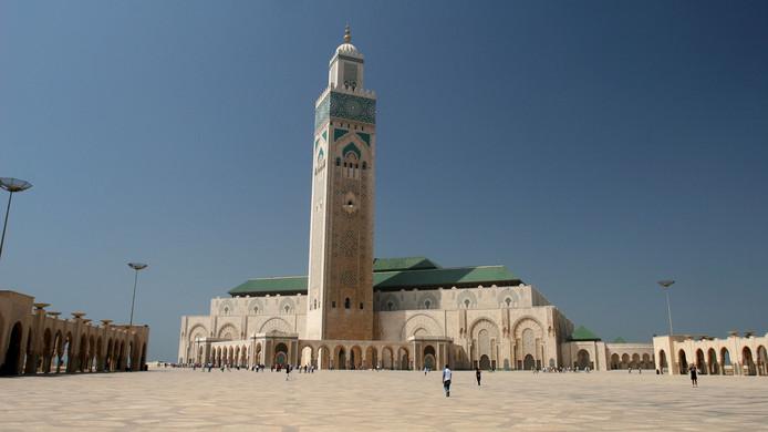 De Hassan II moskee in Casablanca.