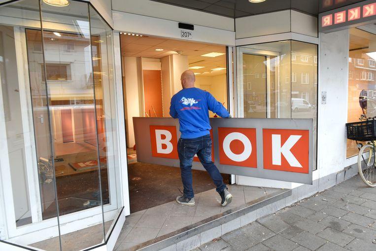 De ontmanteling van de Blokker aan de Kleiweg in Rotterdam in 2017. De winkelketen verkeert in financiële problemen en verkoopt daarom zijn Belgische en Luxemburgse vestigingen. Beeld Hollandse Hoogte / Peter Hilz