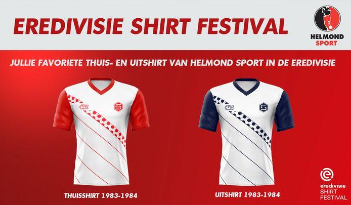 Het shirt van Helmond Sport kreeg een eervolle vermelding in het Eredivisie Shirt festival.