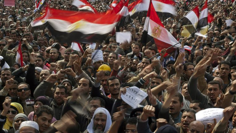 Het Tahrirplein in Caïro, vandaag. Beeld ap