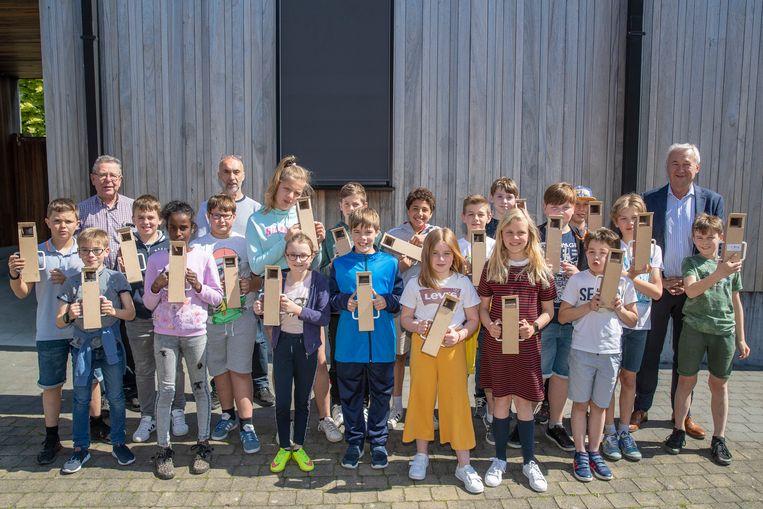 Archiefbeeld - De jongens en meisjes van de Techniekacademie in Kluisbergen.