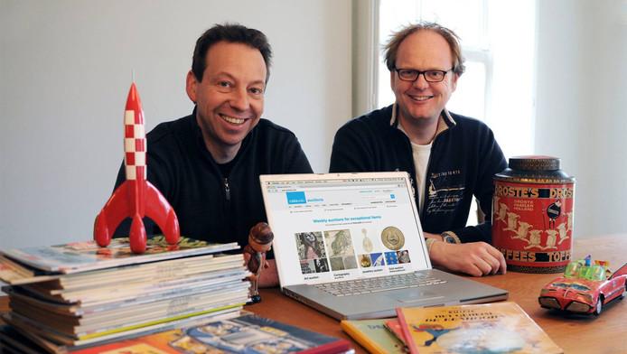 Catawiki-oprichters Marco Jansen en René Schoenmakers