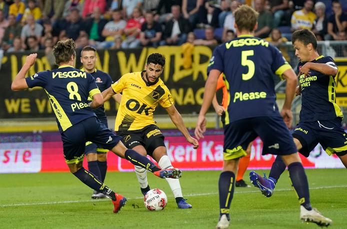 Huseyin Dogan afgelopen vrijdag in actie tegen Helmond Sport (5-1 winst).