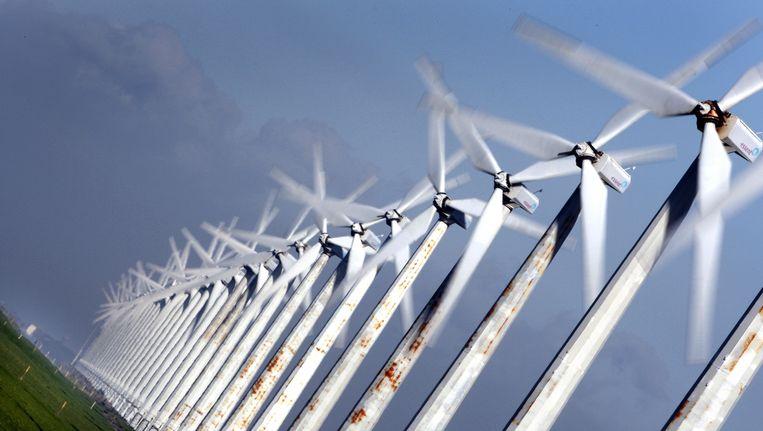 Windpark Westermeerdijk aan het IJsselmeer. Beeld ANP XTRA