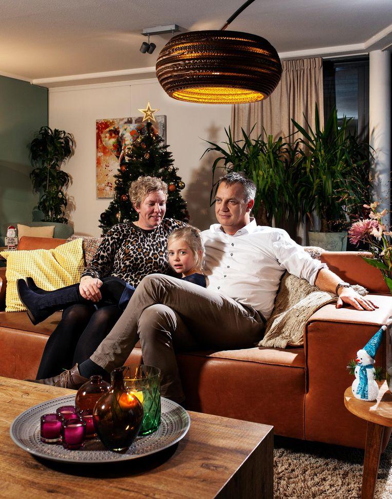 Emil, Marijke en Jasmijn Büscher Beeld Friso Keuris