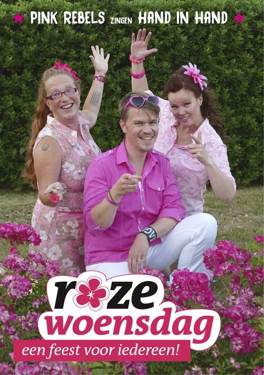 Pink Rebels Debby Marijnissen, Jos de Ridder en Mariena Steensma.
