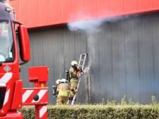 Brand onder controle bij Raab Karcher bouwmaterialen in Oldenzaal