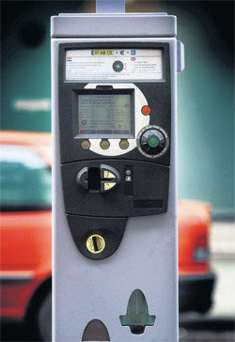 De gewraakte draaiknopautomaat. Foto Klaas Fopma Beeld