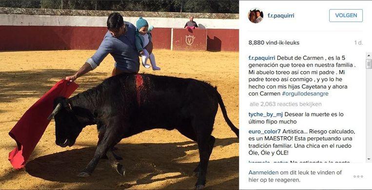 Screenshot van de Instagram-post. Beeld null