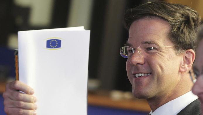 Rutte zei 'de absolute overtuiging' te hebben dat de gulden 'kapot gespeculeerd' zou zijn in de jaren 2008 en 2009.