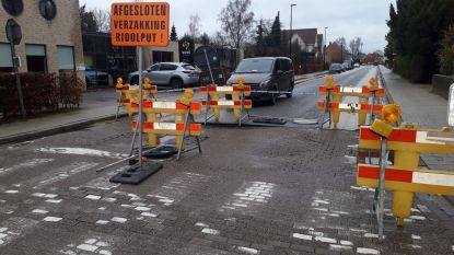 Dr.-Peetersstraat en Dr.-Sanodreef aan kruispunt met Pas afgesloten door wegverzakking