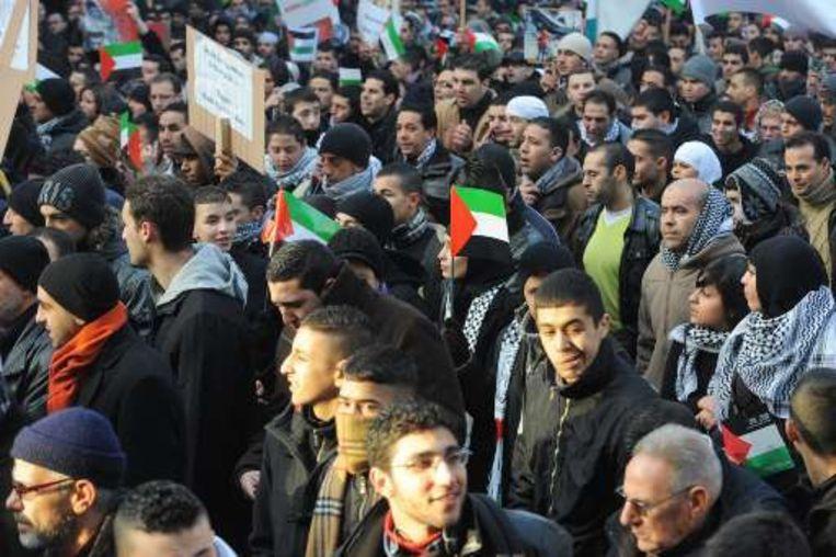 Ook in Brussel kwam veel volk op straat.
