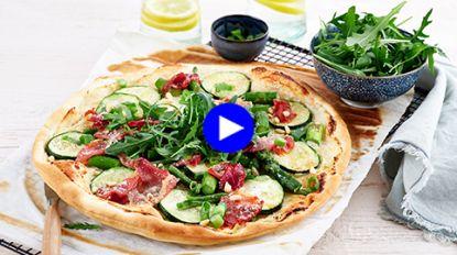 Krokanter, lichter en zomerser dan pizza? Deze flammkuchen met extra groenten