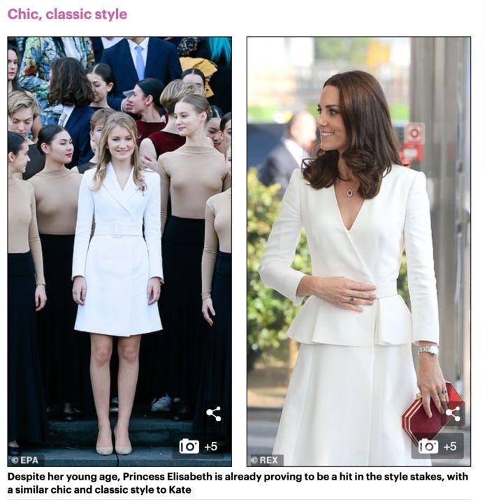 Le Daily Mail dresse un parallèle vestimentaire entre la princesse Elisabeth et Kate Middleton.