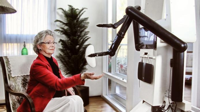 Ook een robot die eenvoudige handelingen kan verrichten behoort tot de mogelijkheden in een aangepaste woning.