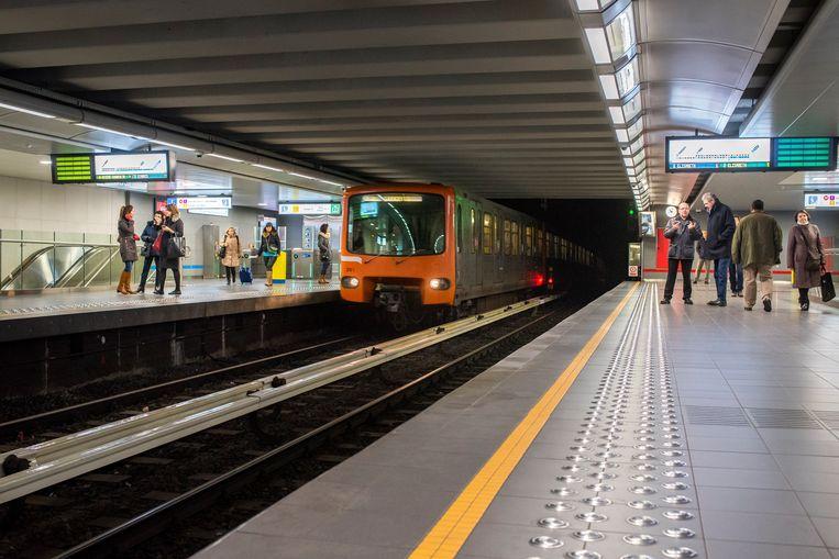 De metro van het MIVB.