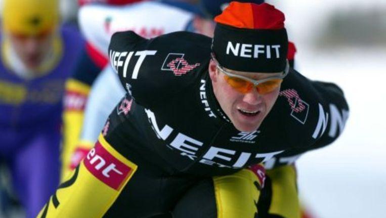 Erik Hulzebosch stopt met schaatsen in wedstrijdverband. Foto ANP Beeld