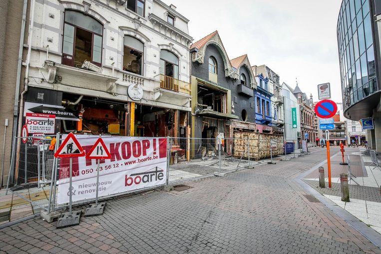 De sloop van de cafés tegenover het Casino is gestart.
