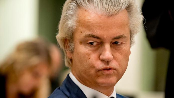 Geert Wilders tijdens de zitting.