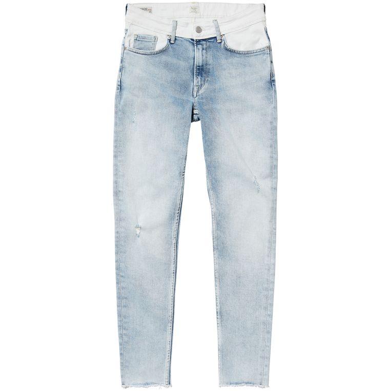 Jeans met witte bovenkant van Pepe Jeans, € 115 Beeld