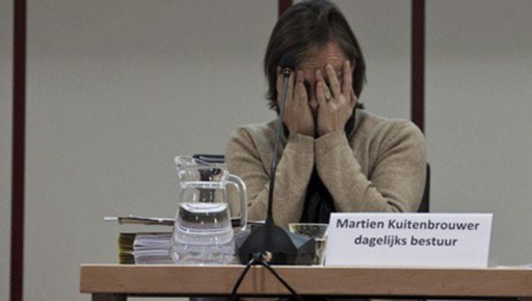 Martien Kuitenbrouwer wordt de D66-klucht even te veel. Foto Maarten Brante Beeld