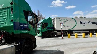 Gerecht mag 346 vrachtwagens van transportreus Jost Group in beslag nemen