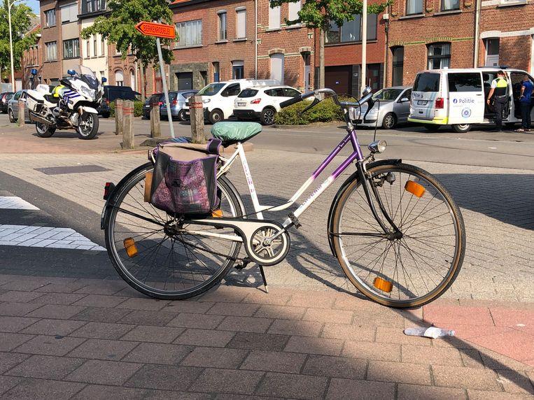 De fiets van het 84-jarige slachtoffer.
