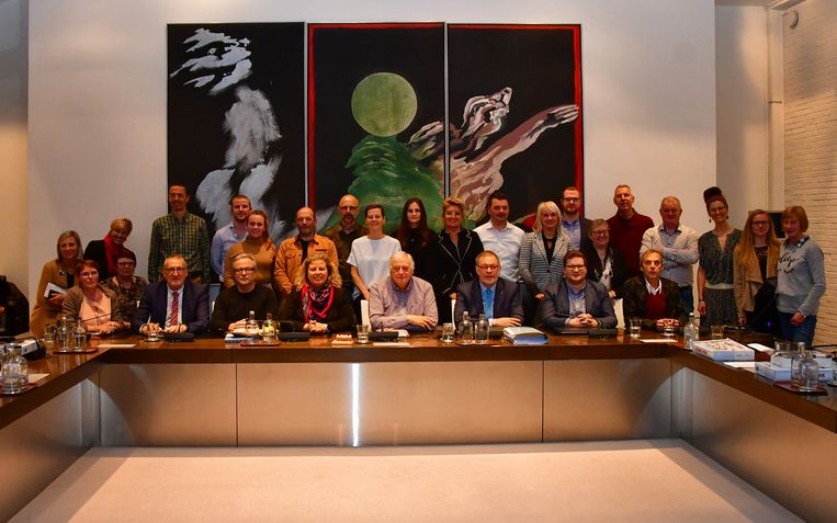 De nieuwe gemeenteraad.