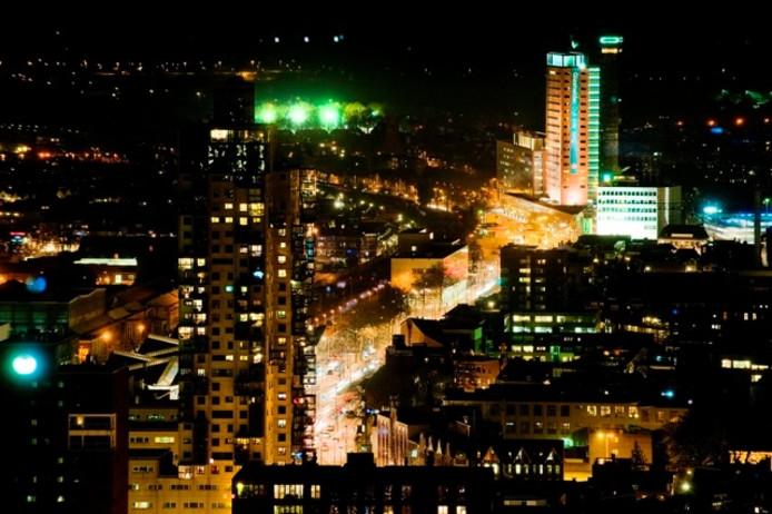Tilburg bij nacht. Archieffoto Joris Buijs/BeeldWerkt