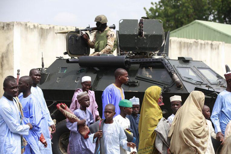 Archief: Nigeriaans militairen in Maiduguri. Beeld ap