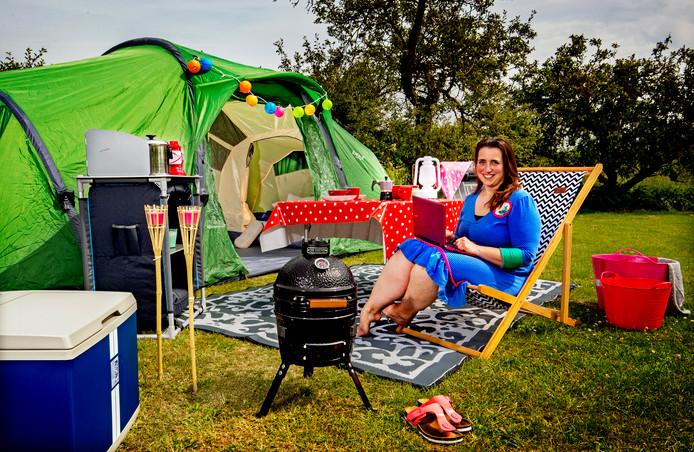 Karin Horstman is gek op kamperen. ,,Met kinderen is het de ideale vakantie.''