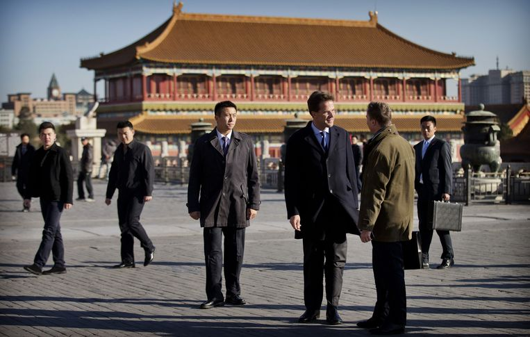 Premier Rutte bezocht eind 2013 onder meer de Verboden Stad in Peking. Beeld ANP