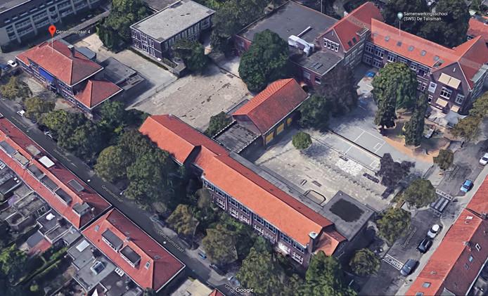 In de (oude) schoolgebouwen aan de Geraniumstraat in Stratum Eindhoven zou mogelijk plaats zijn voor buurthuis De Zuidwester.