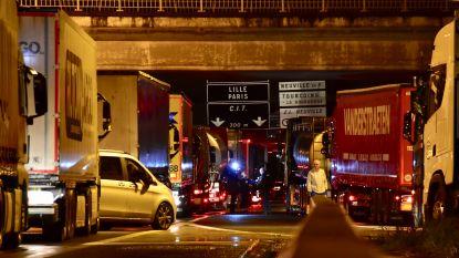 Franse truckers blokkeren urenlang grensovergang E17 Rekkem