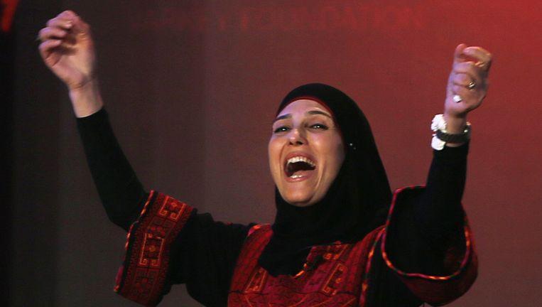 Hanan al-Hroub, de Palestijnse juf die de Global Teacher Prize heeft gewonnen. Beeld ap