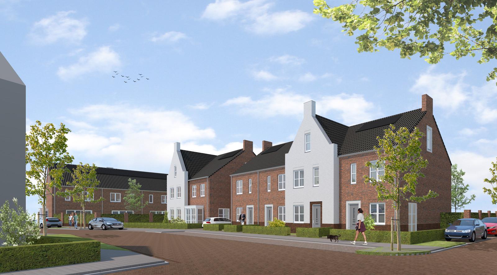 Plan Korenkwartier, op de plek van de voormalige Boerenbond-winkel in Moergestel.